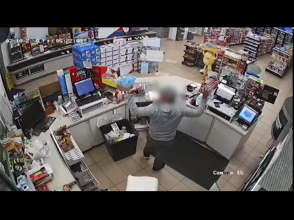 VIDEO: CONVENIENCE STORE ROBBED AT GUNPOINT, EMPLOYEE SHOT AND PISTOL WHIPPED