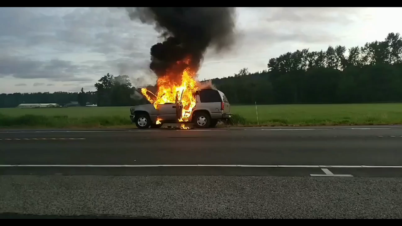 Early Morning Vehicle Fire Slows Traffic on SR 530 - Key